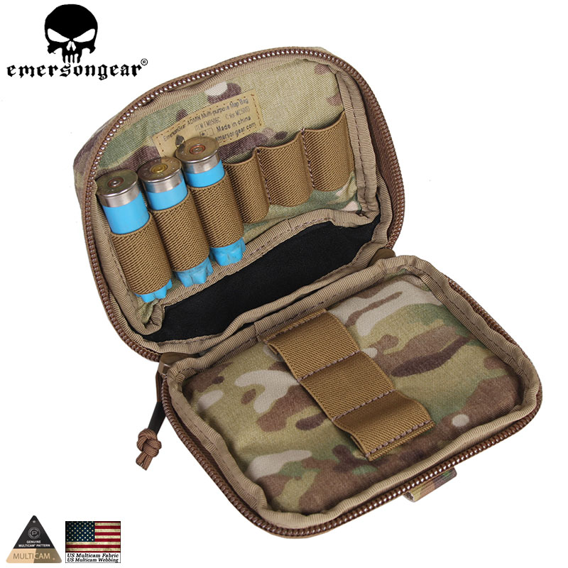 EMERSONGEAR Edc Tactical ADMIN Pouch Molle Multi-purpose Survival Pouch Military Army Combat Bag EM8506 жакет из денима короткий без воротника прямой покрой