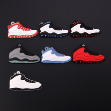 New Mini Jordan 10 Keychain Shoe Men Wome Kids Key Ring Gift Basketball Sneaker Key Chain Key Holder Porte Clef mini silicone sply 350 v2 shoes keychain woman bag charm men kids key ring gift sneaker key chain acessorios porte clef