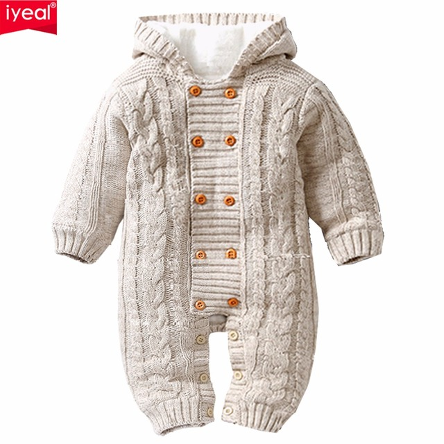 5b69ed2e15e6 IYEAL Thick Warm Infant Baby Rompers Winter Clothes Newborn Baby Boy ...