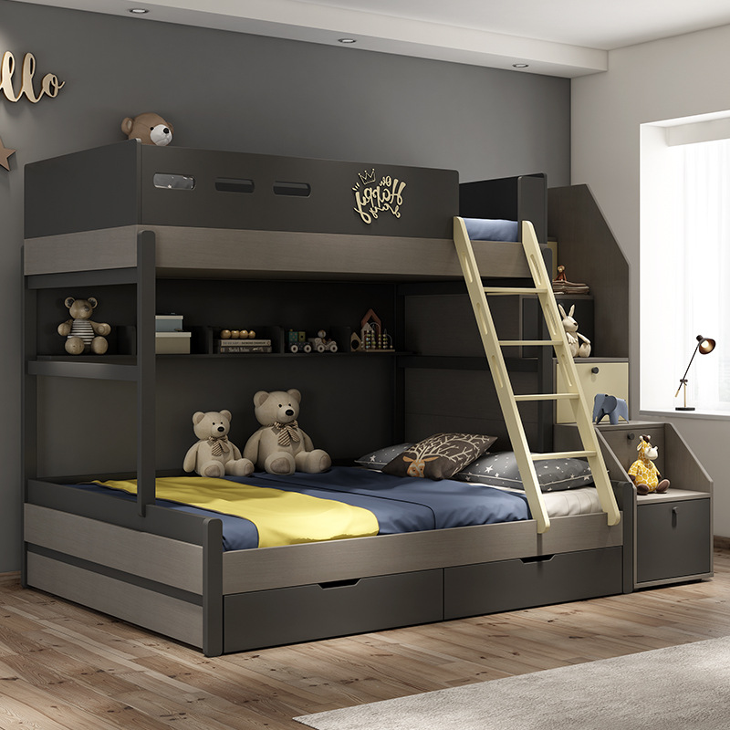 US 1295 0 Nordic Child Bed Combination Modern Minimalist Children Go To Bed Multi Functional High And Low Bunk Bed In Children Furniture Sets From