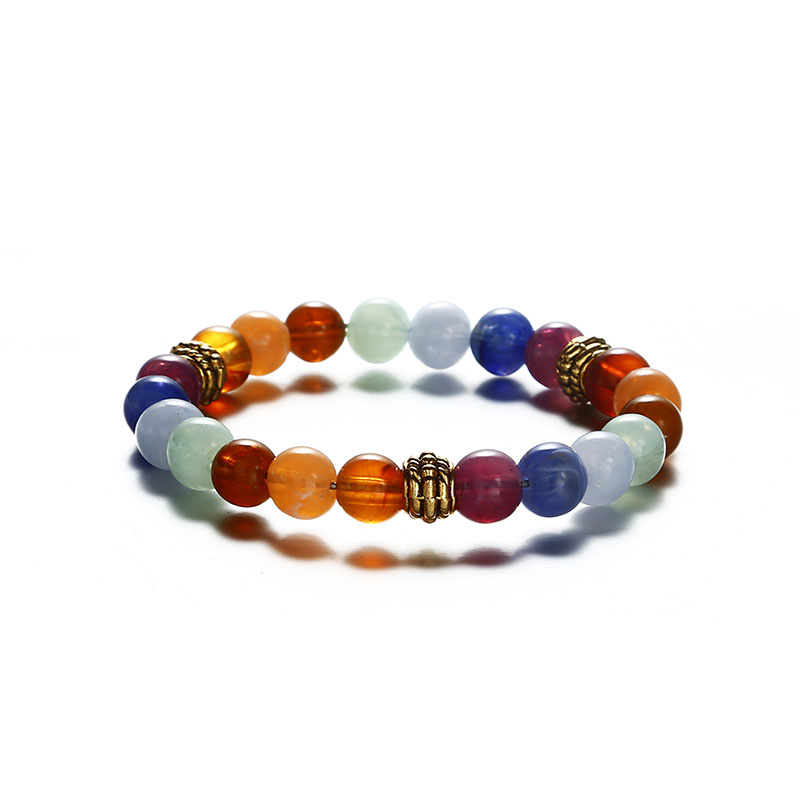 Hot Fashion Men's and Women's Bracelet Volcanic Stone Crown Elephant Sun Charm Bracelet Jewelry Suitable for Summer Beach Gift 4