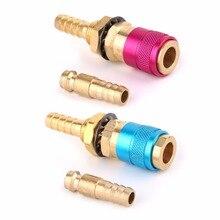 С водяным охлаждением газовый адаптер Быстрый разъем для TIG сварочный фонарь+ 8 мм разъем
