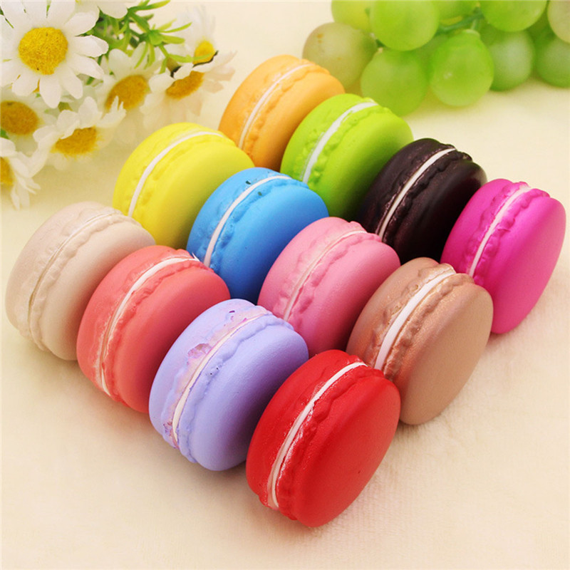 Squeeze Toy Anti Stress For Children Funny Toys Slow Rising Kids Toys Decopression Toys Simulation Macaron Food Squishy Super