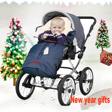 2 colors baby thicken winter sleeping bag anti-cold baby stroller sleeping bag thickening envelope