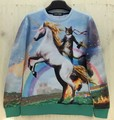 """[Amy] nuevas Mujeres de la moda de Los Hombres del espacio """"unicornio y Caballero Gatos"""" Jersey de impresión 3D/Galaxy Sudaderas con capucha de la blusa Tops"""