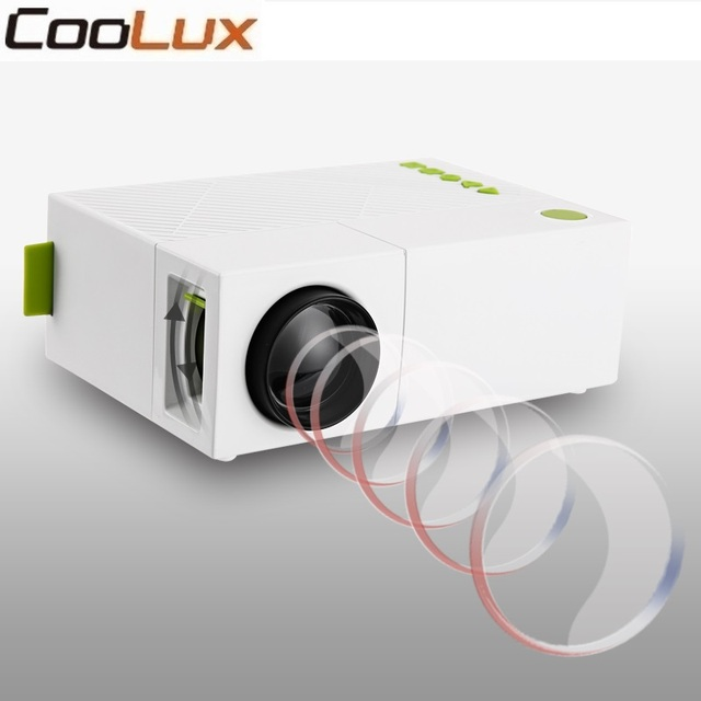 Best Offers Coolux YG310 Mini Projector High Resolution 1080P LCD LED Projection 400-600Lum Audio AV Home Theater Projector