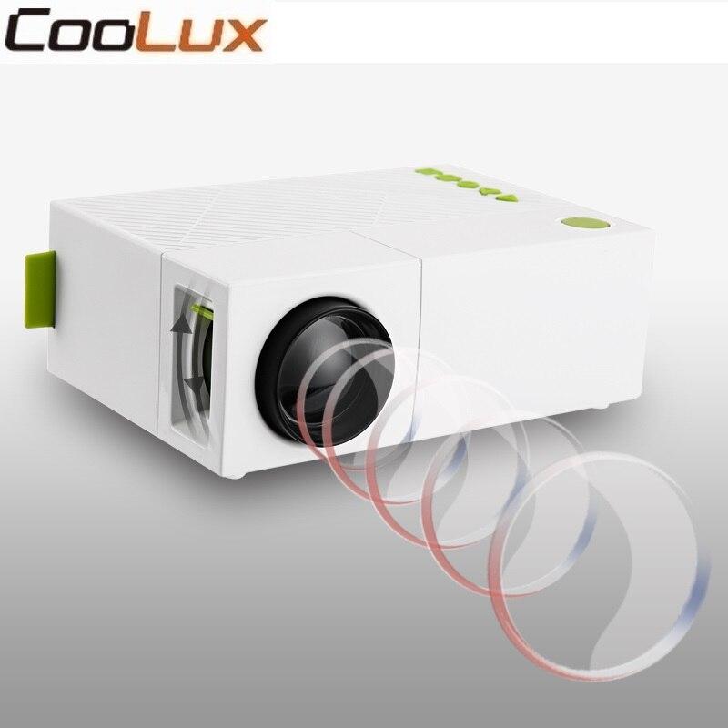 Coolux YG310 Mini Projecteur Haute Résolution 1080 p LCD LED De Projection 400-600Lum Audio AV Home Cinéma Projecteur