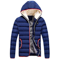 Spring Winter Hooded Jacket Men Brand Cotton Men Clothes Fashion Warm Mens thicken Windproof outerwear down Coats Plus Size 4XL