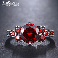 New Arrivel Vintage Ring Blue Stone Zircon Ring Wedding Jewellry For Elegant Women Love Gifts Viking
