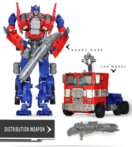 Image 3 - Top Sale 19cm Big Plastic Educational Transformation Robot  action figure toys for children boys deformation car model Toys gift