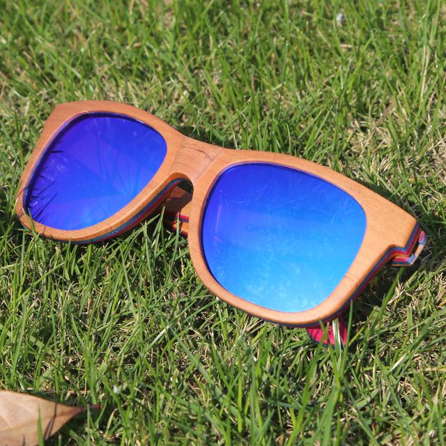 Skate De Madeira Óculos Polarizados Revestimento Reflexivo Óculos De Sol De Madeira Mulheres Homens Driving Shades Lentes De Sol Mujer Hombre