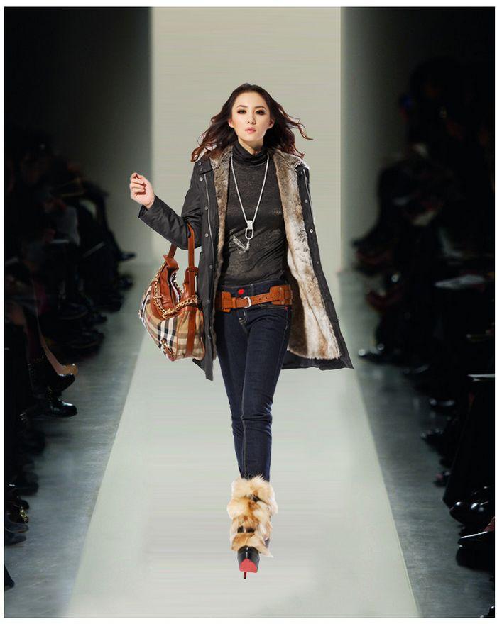Aliexpress.com : Buy Winter Womens Faux fur lining fur coats Warm ...