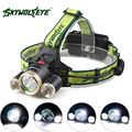 SKYWOLFEYE XML T6+2x XPE LED Headlamp Headlight 9000Lm Super Bright Rechargeable Head Light Lamp Torch for Outdoor Camping
