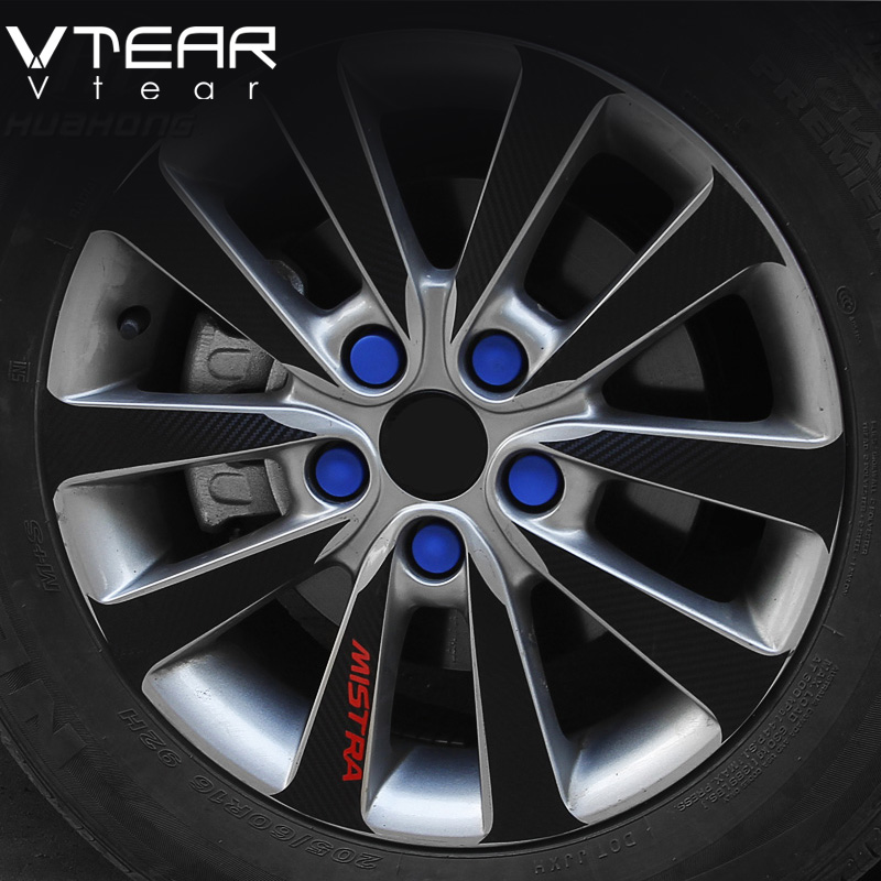 Vtear Car Wheels screw cover Wheel hub decoration silicone font b Exterior b font products for