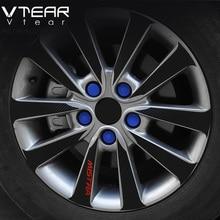 Vtear колеса автомобиля винтовая крышка ступицы колеса украшения силиконовые Товары для фокуса Mokka Rio Cruze Lova Aveo CERATO 19 мм