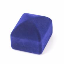 Zaręczyny naszyjnik pierścionek bransoletka Biżuteria wyświetlacz Gift Square Box czarny niebieski aksamit Storage Organizer sprawa Shellhard tanie tanio 0 cali w Innych Gift Boxes 0 021g Aksamitu Velvet jewelry box velvet gift boxes Jewelry Packaging Display