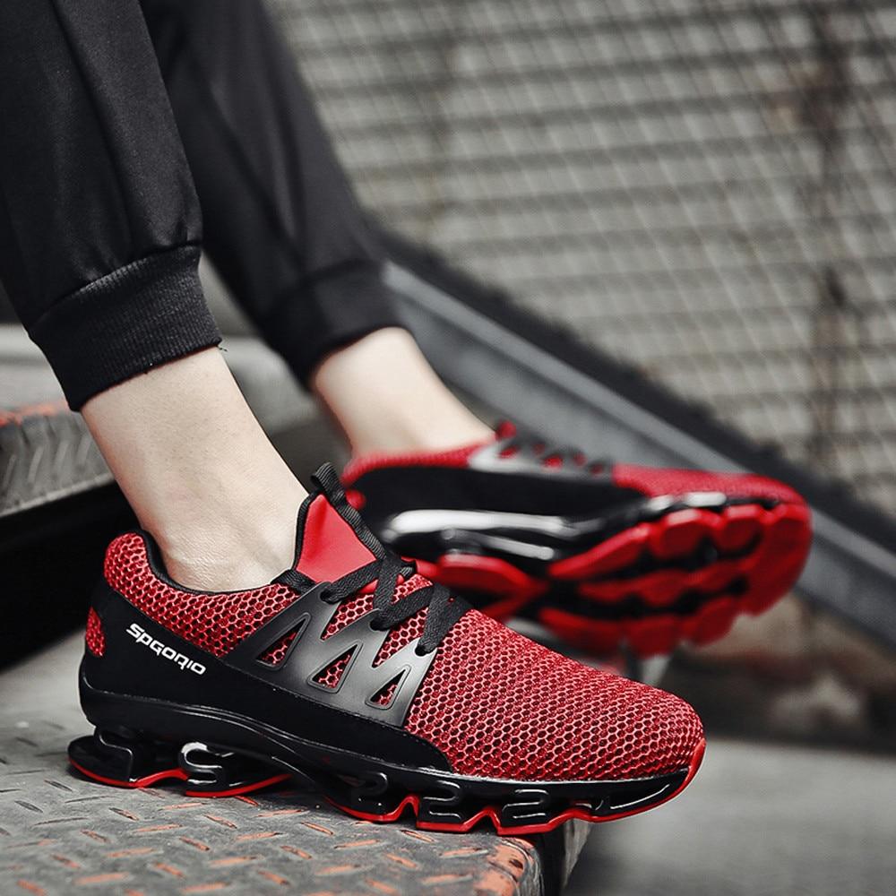 Hombre blanc Sneaker Adulte Glissement Mode L5 Chaussures Casual rouge Maille Youyedian Lame Zapatillas Hommes Noir Sur EqnP4aSZx
