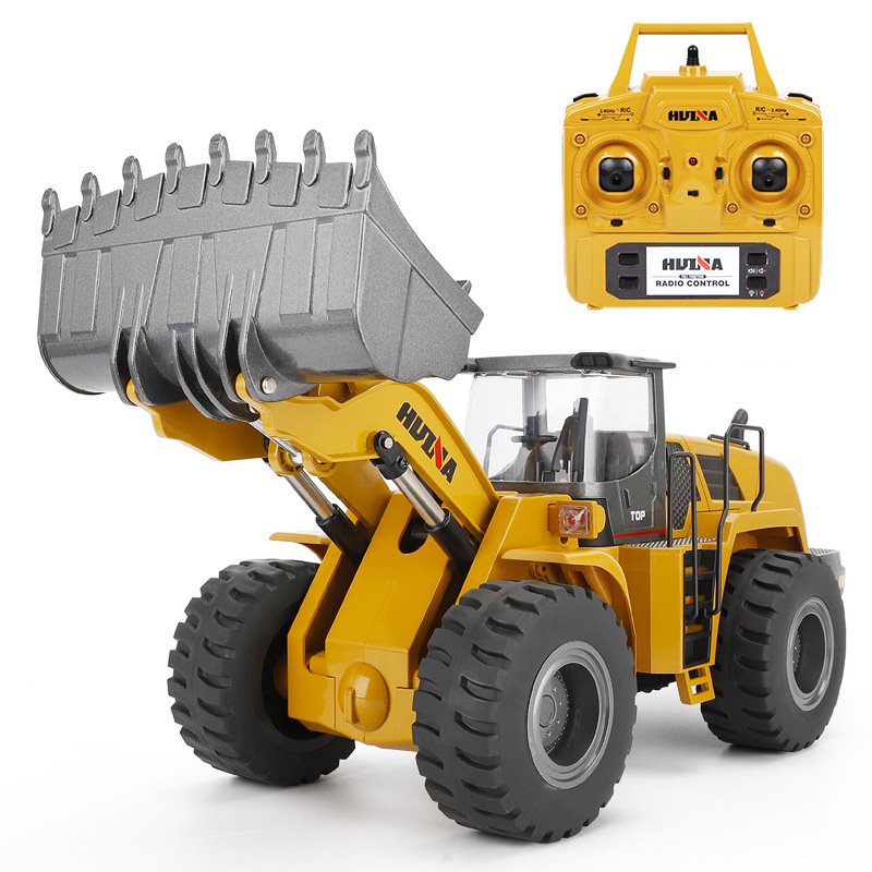 NEW Large Remote Control Loader Machineshop Truck 583 2.4G Screw Mandrel Power Alloy Material Electric Engineering Vehicle Model цены