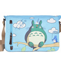 Anime My Neighbor Totoro Messenger Canvas Bag Shoulder Bag Cute Printing Blue Totoro Bag Cosplay Teenagers Schoolbag