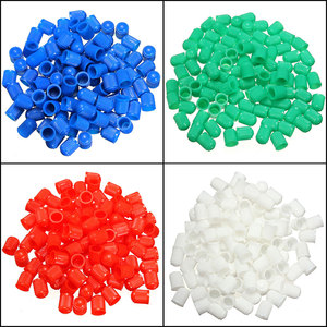 Car-styling New 100 Pcs for Car Truck Bike Bicycle Motorcycle Plastic Tyre Air Wheel Valve Stem Caps Green/Blue/White/Red/Black(China)