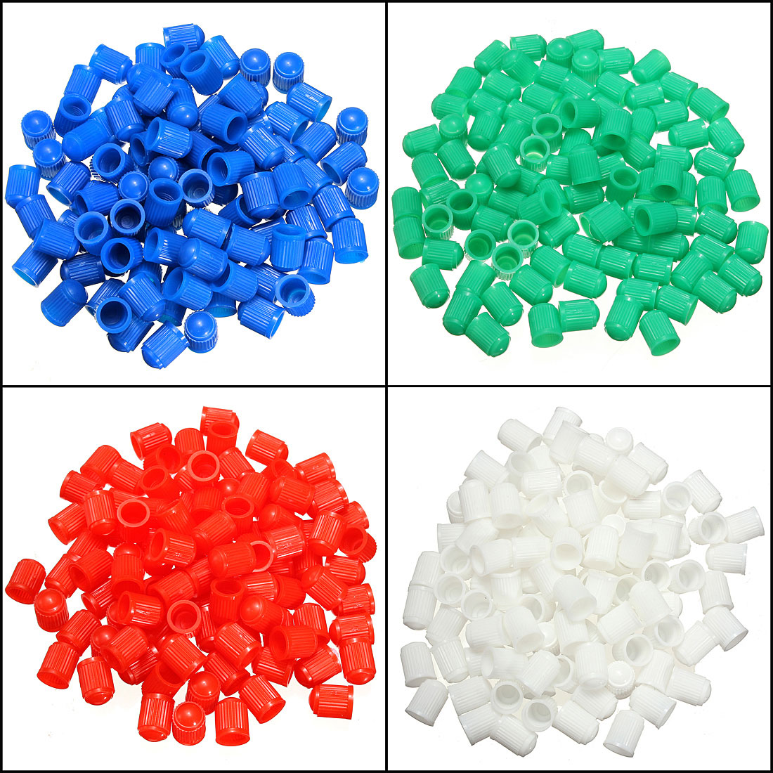 Car-styling New 100 Pcs For Car Truck Bike Bicycle Motorcycle Plastic Tyre Air Wheel Valve Stem Caps  Green/Blue/White/Red/Black