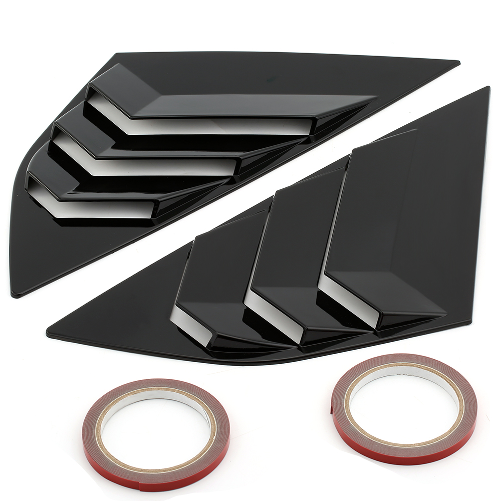 2PCS Window Side Louvers Vent ABS Car Side Window Cover For Ford Focus ST RS 2013