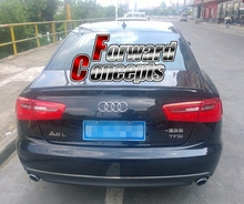 CARBON FIBER  2012-UP A6 C7   REAR WING TRUNK SPOILER for audi a6 c7 4g carbon rear spoiler s6 style a6 car carbon fiber rear spoiler rear trunk wing gloss black finish 2012 up