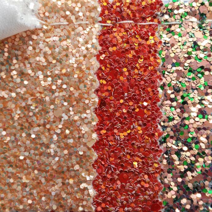 Chunky Glitter Synthétique En Cuir Faux Cuir Tissu Glitter En Cuir avec support Extensible Pour Coudre DIY P946