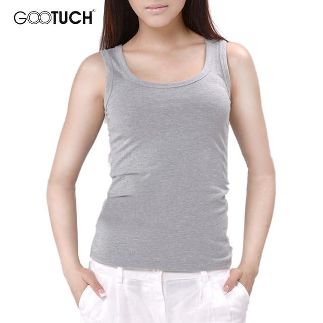 Womens Cotton Tank Tops Singlet Slim Bodyshaping U Neck Vest Plain White Plus Size Cotton Underwear Women 5XL 6XL Tanks 049 2