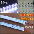 "50sets 50cm SMD 8520 LED bar 12V led rigid Strip light 36leds 0.5m waterproof +""U"" aluminium profile + PC cover Good quality"