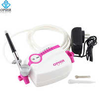 OPHIR 0.3mm Doppia Azione Airbrush Kit con Velocità Regolabile Compressore D'aria per decorazione di Una Torta Airbrushing Hobby _ AC094W + AC004