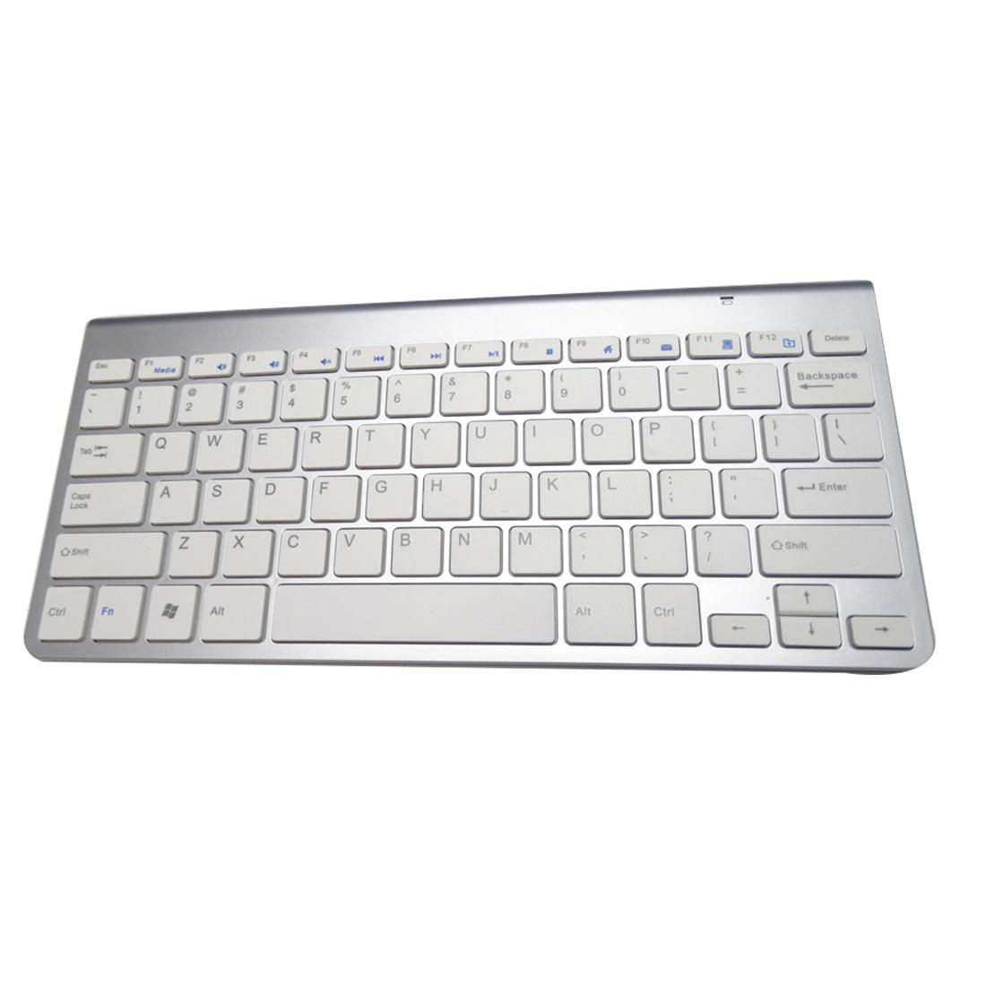 NOYOKERE Ultra Slim 2.4G Teclado inalámbrico Teclado para juegos en línea para MacBOOK LAP Computadora PC y tableta Android