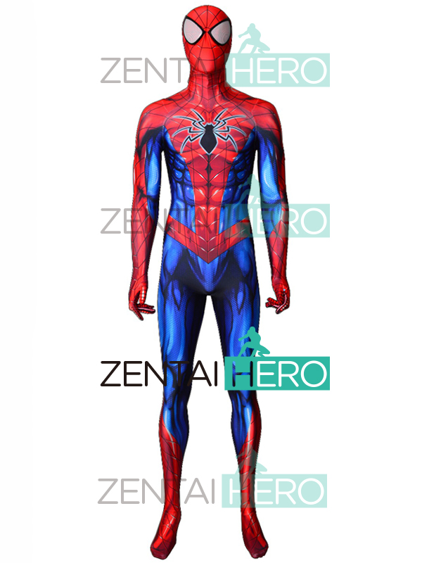 2018 Newest Spider-Man Costumes 3D Printed All New Spider-Man Costume Bodysuit Halloween Spiderman Superhero Catsuit Adult/Kids
