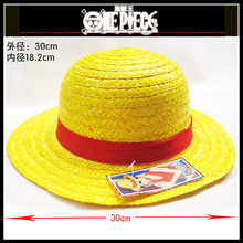 Top Anime One Piece Moneky D Luffy Logo Straw Hat Beanie Cap Costume Ball Cosplay Gift Hot Sale