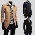 2015 fashion brand mens wool winter coats Men Casual Simple Buttoned Collar Slim Jacket