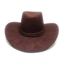 Women 3 color Large brim hat cowboy hat for man millinery outdoor hat sunbonnet casual fashion