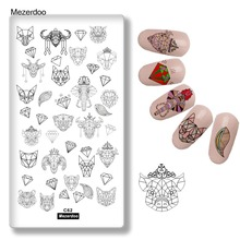 Stamping Plates Animal Mask Constellation Leaves Nail Metal Halloween & Christmas Image Art Manicure Tools