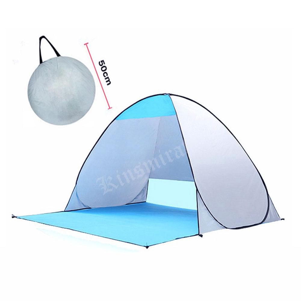 Быстрый automic открытие пляж палатка УФ-защита для кемпинга Солнечные укрытия подледной рыбалки Палатки Водонепроницаемый полиэстер Ткань