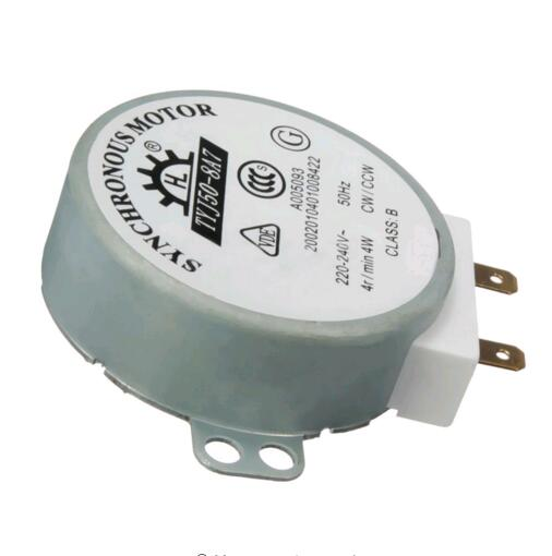 1 PCS New AC 220V-240V 50Hz CW/CCW Microwave Turntable Turn Table Synchronous Motor TYJ50-8A7 D Shaft 4 RPM