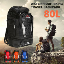 80L Outdoor Camping Hiking Backpack Sports Bag Travel Trekk Rucksack Mountain Climbing Equipment Men Women males Teengers