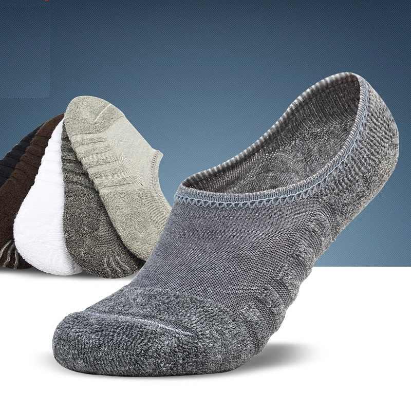Бесплатная доставка 6 шт. = 3 пар/лот Мужская Невидимый Полотенце стиль хлопковые носки в полоску водонепроницаемые Нескользящие, высокого качества новые большие размеры