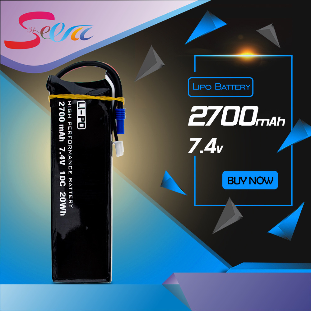 H501S lipo battery 7.4V 2700mAh 10C Batteies 1pcs or 2pcs for Hubsan H501C rc Quadcopter Airplane drone Spare Parts hubsan h501s x4 rc battery 7 4v 2700mah 10c rechargeable lipo batteies for hubsan h501c quadcopter airplane drone spare parts