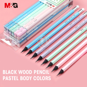 Image 3 - M&G 72/36pcs Cute HB/2B Black Wood Pencil with Pastel printing Wooden Lead Pencils Graphite Drawing Sketch Pencil set