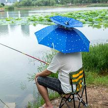 Protezione di Sport Del Berretto di pesca Cappello Ombrello Da Trekking  Campeggio Spiaggia Copricapi Cap Testa d3a579c52f60