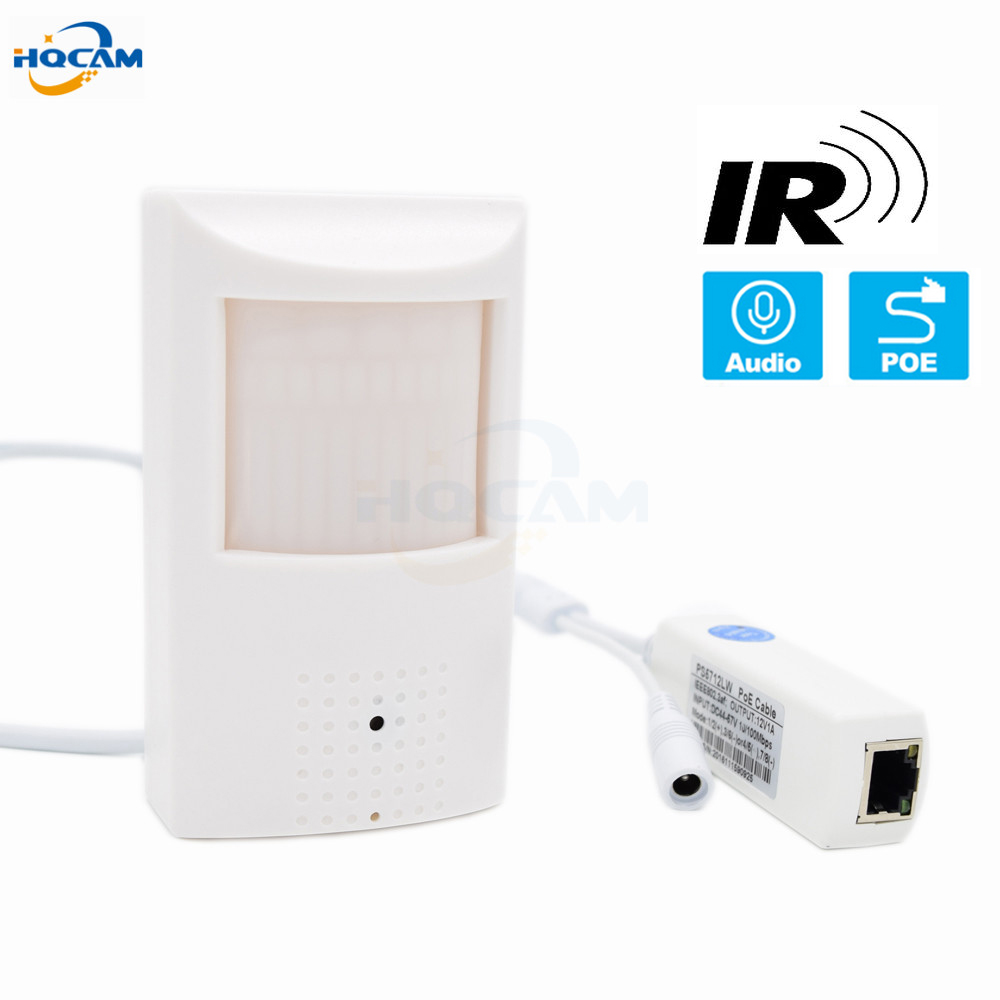 HQCAM 1080 P 960 P 720 P POE Audi Onvif 25FPS Sécurité Intérieure Mini Caméra IP CCTV Surveillance POE IP caméra Microphone Intégré