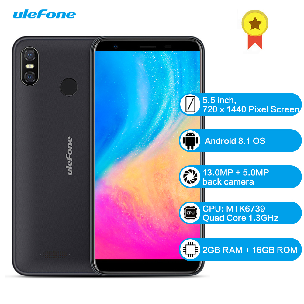 Smartphone Ulefone S9 Pro 4G 5.5 pouces Android 8.1 MTK6739 Quad Core 1.3 GHz 2 GB RAM 16 GB ROM 13.0MP + 5.0MP téléphone Mobile