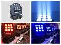 4 шт./лот  супер вращающийся луч LED Moving Head Matrix Light 9x10 Вт RGBW 4в1 Quad светодиодные светильники dmx wash сценическое освещение клуб dj disco
