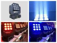 2pcs Free Shipping Matrix LED Moving Head Beam Light 9pcs X 12W RGBW 4 In 1