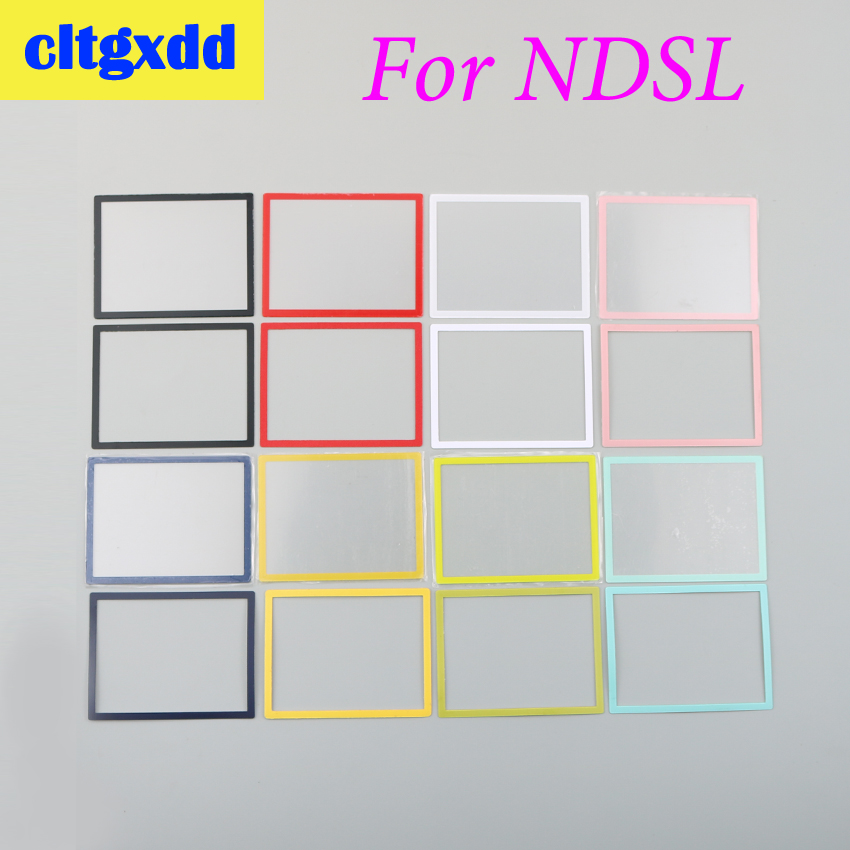 Cltgxdd Colorful Upper LCD Screen Cover Plastic Cover Replacement For DS Lite For NDSL Game Console Plastic Lens