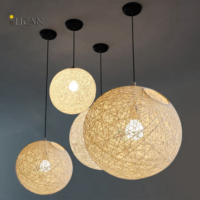 LICAN Modern Colorful Pendant Lamp for Large Shopping Mall Muuto Pendant Lights Knitted pendant lighting fixtures for home decor
